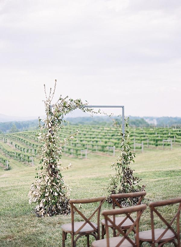 greenery ceremony arch
