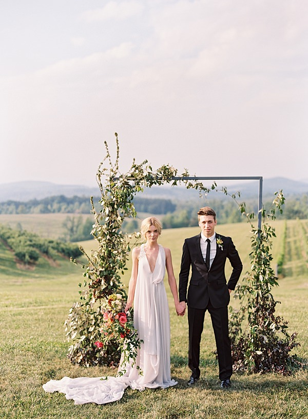ceremony arch with greenery