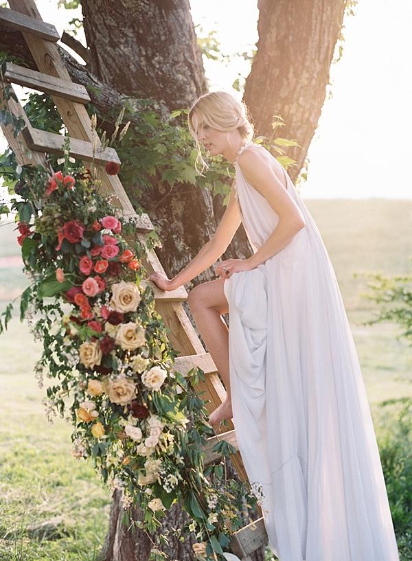treehouse ladder florals