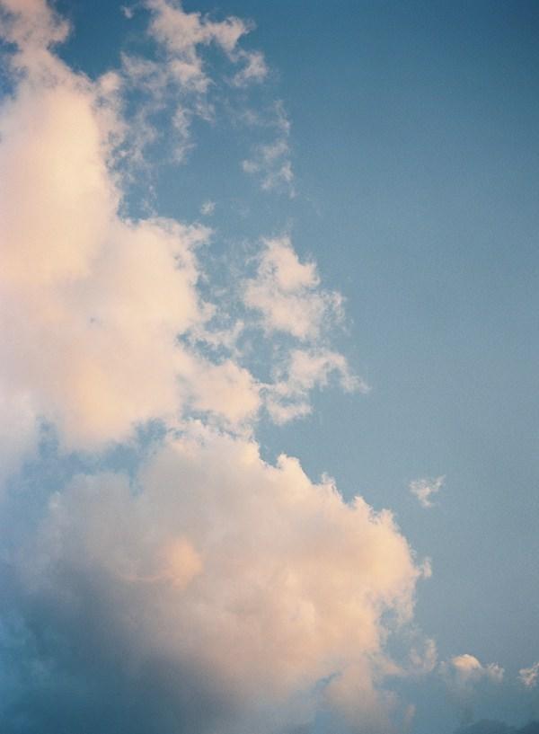 summer sunset clouds