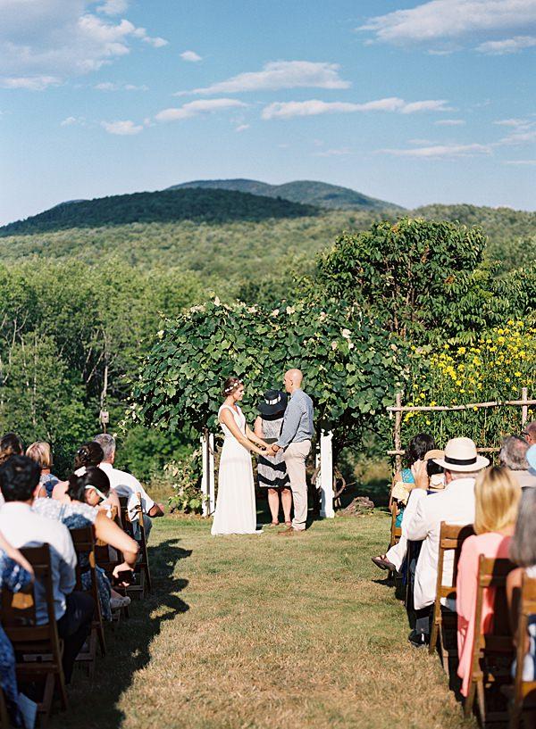 wedding ceremony on film