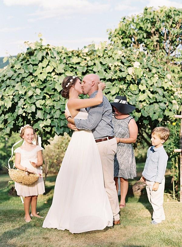 intimate family wedding ceremony