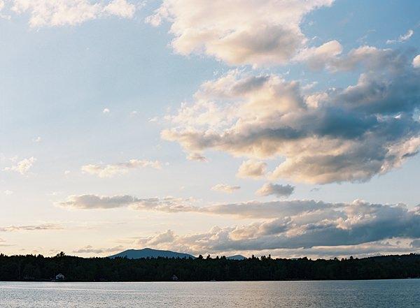 maine mountain sunset