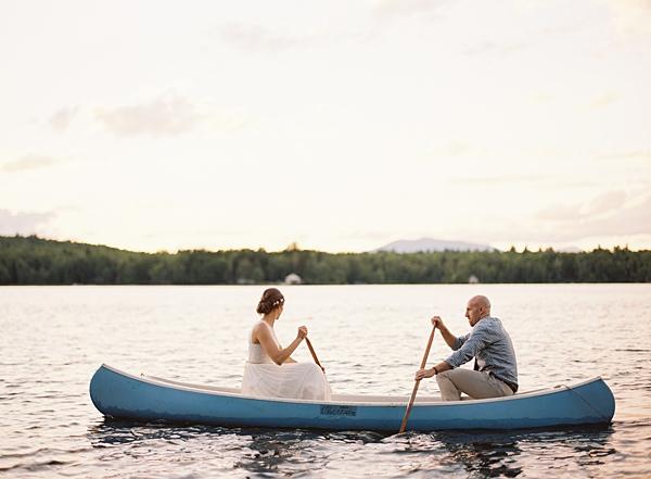 maine lake wedding
