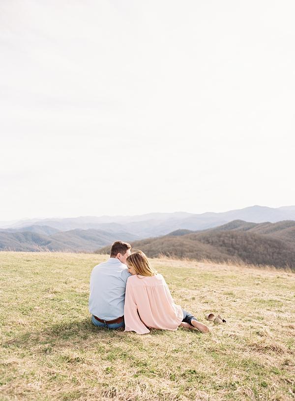 mountain landscape engagement shoot