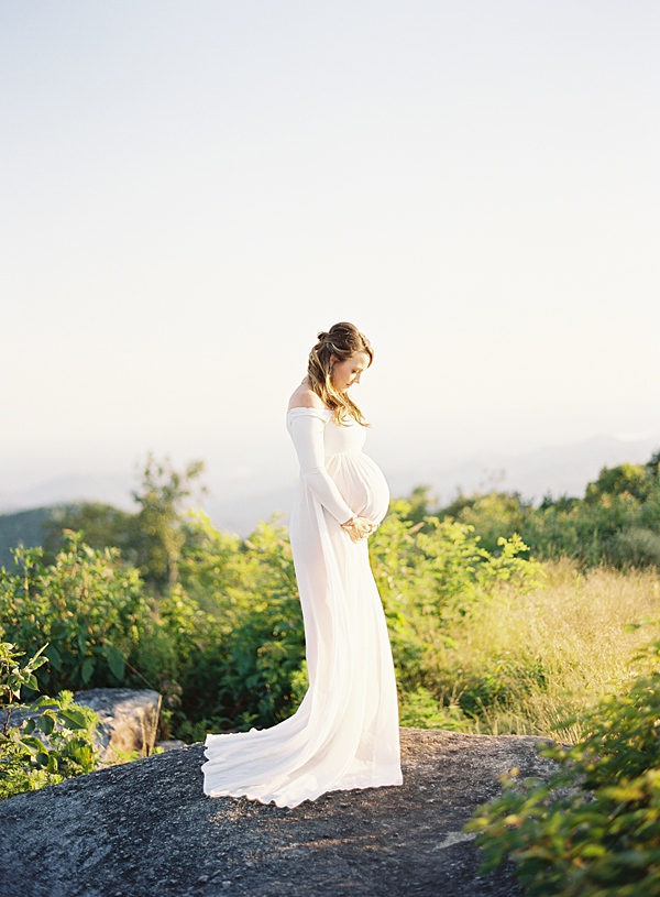 Mountaintop Sunset Maternity Session