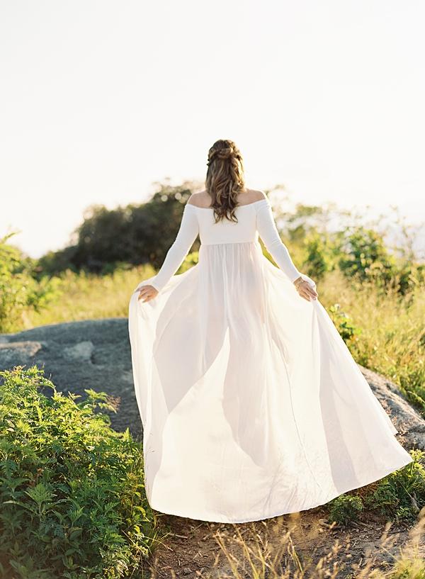 flowing maternity dress