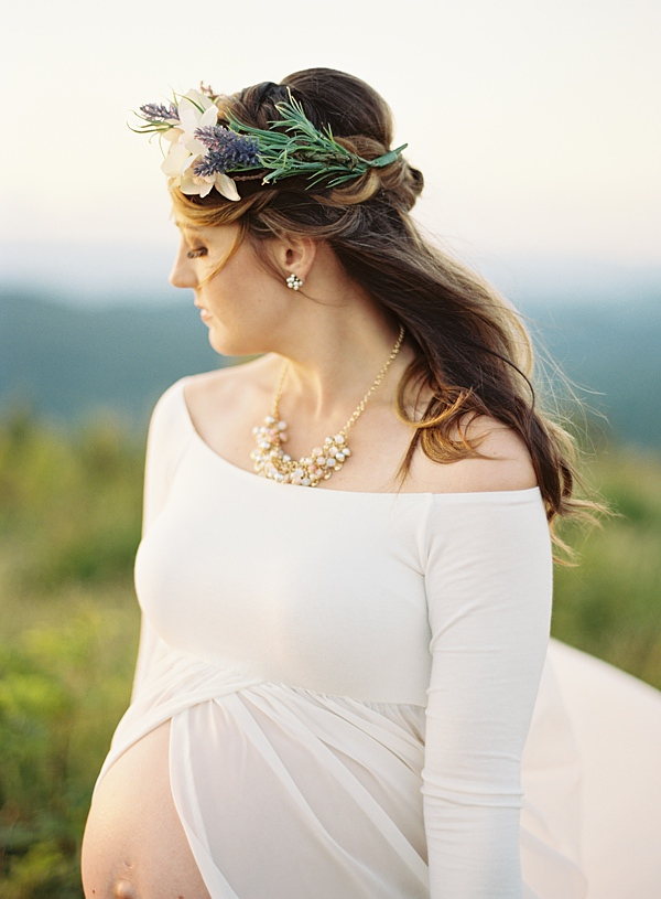 maternity flower crown