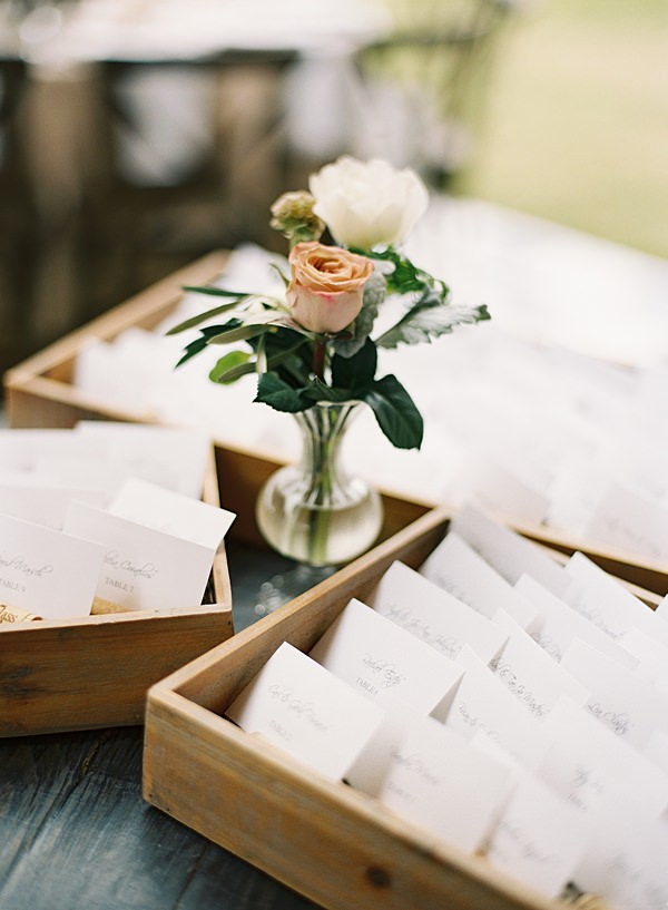 reception placecards