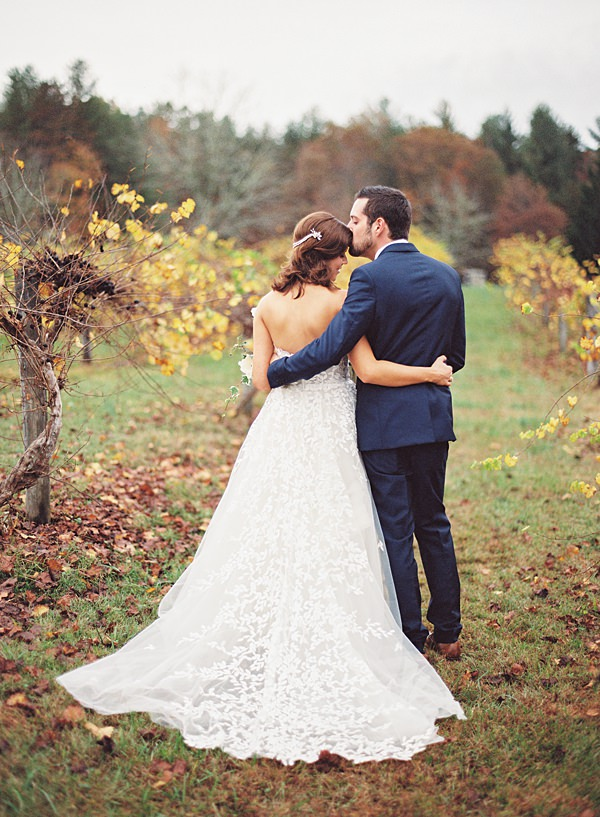rainy vineyard wedding