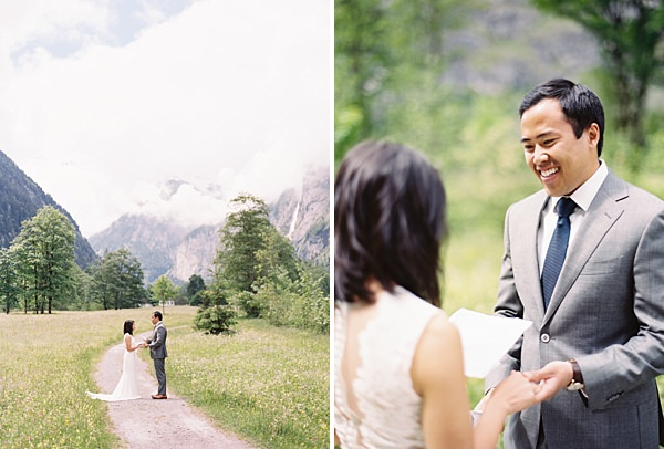 lauterbrunnen valley elopement ceremony