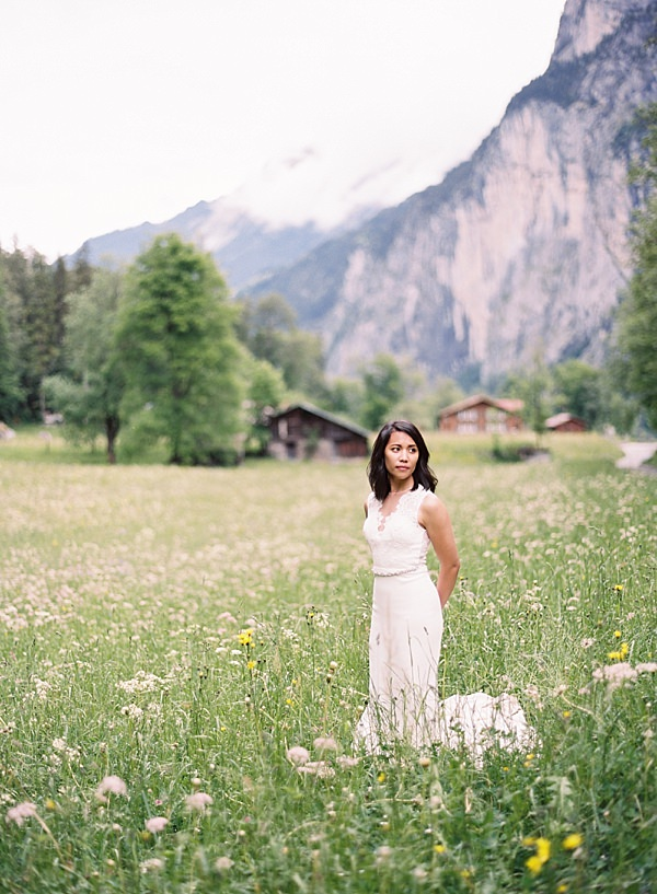 lauterbrunnen valley bride