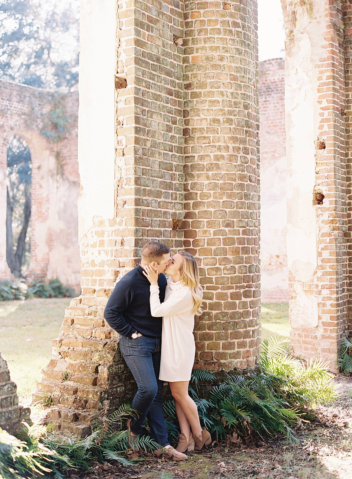 romantic engagement session