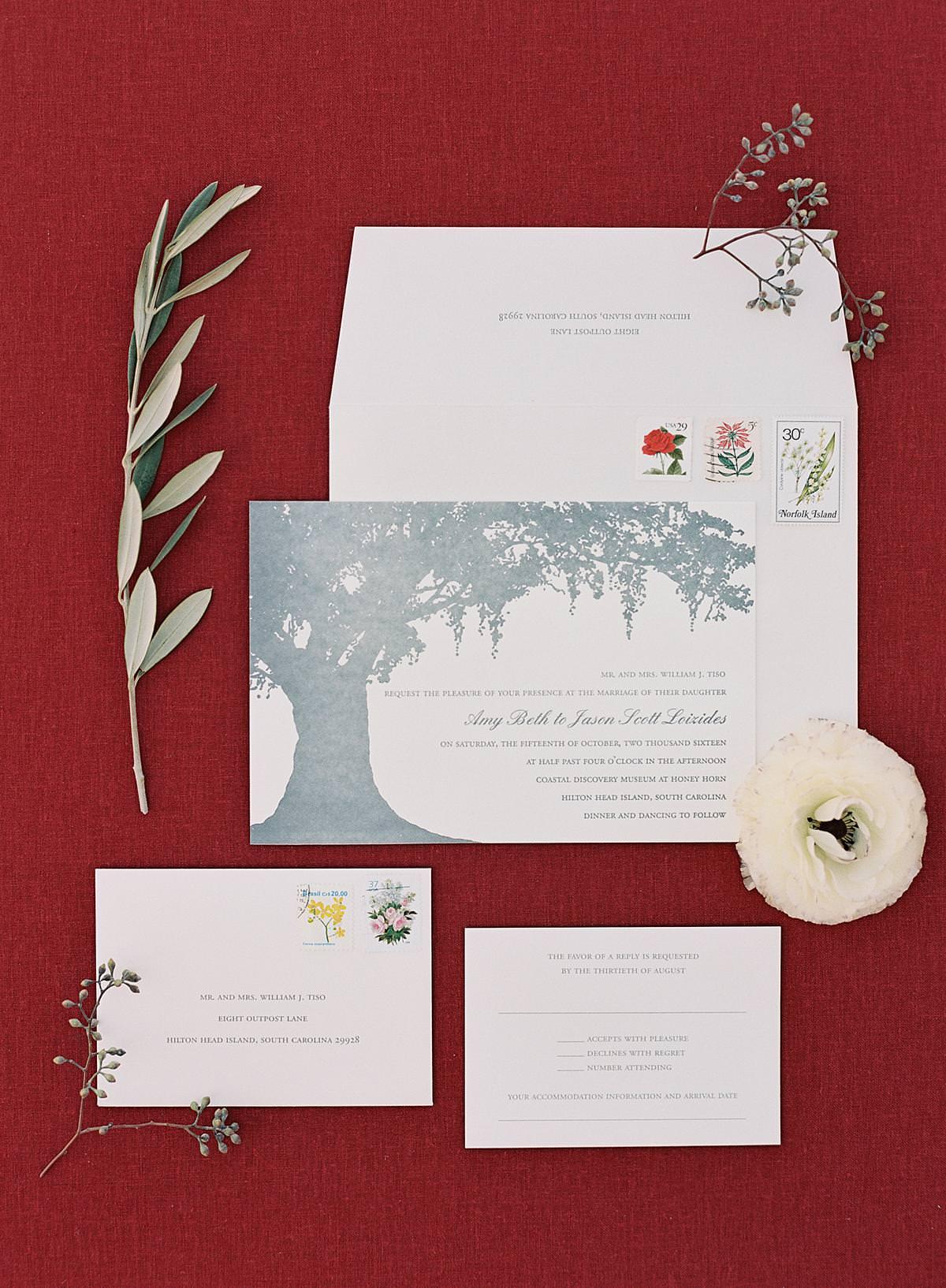 hilton head wedding invitation