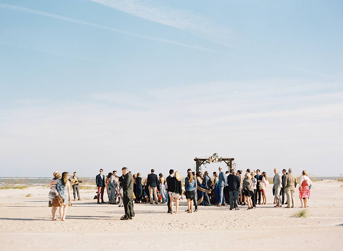 south carolina beach wedding ceremony