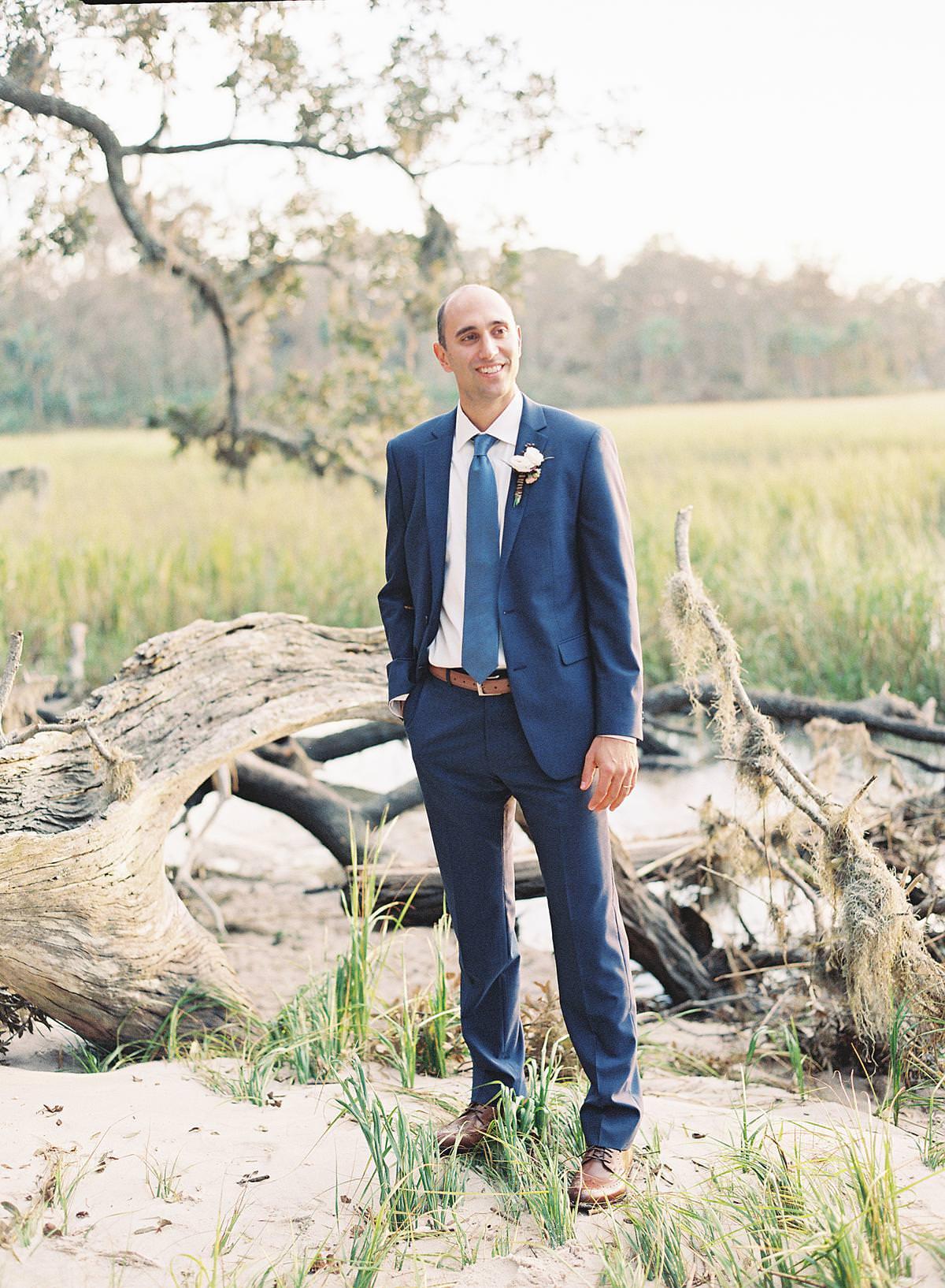 hilton head groom portrait