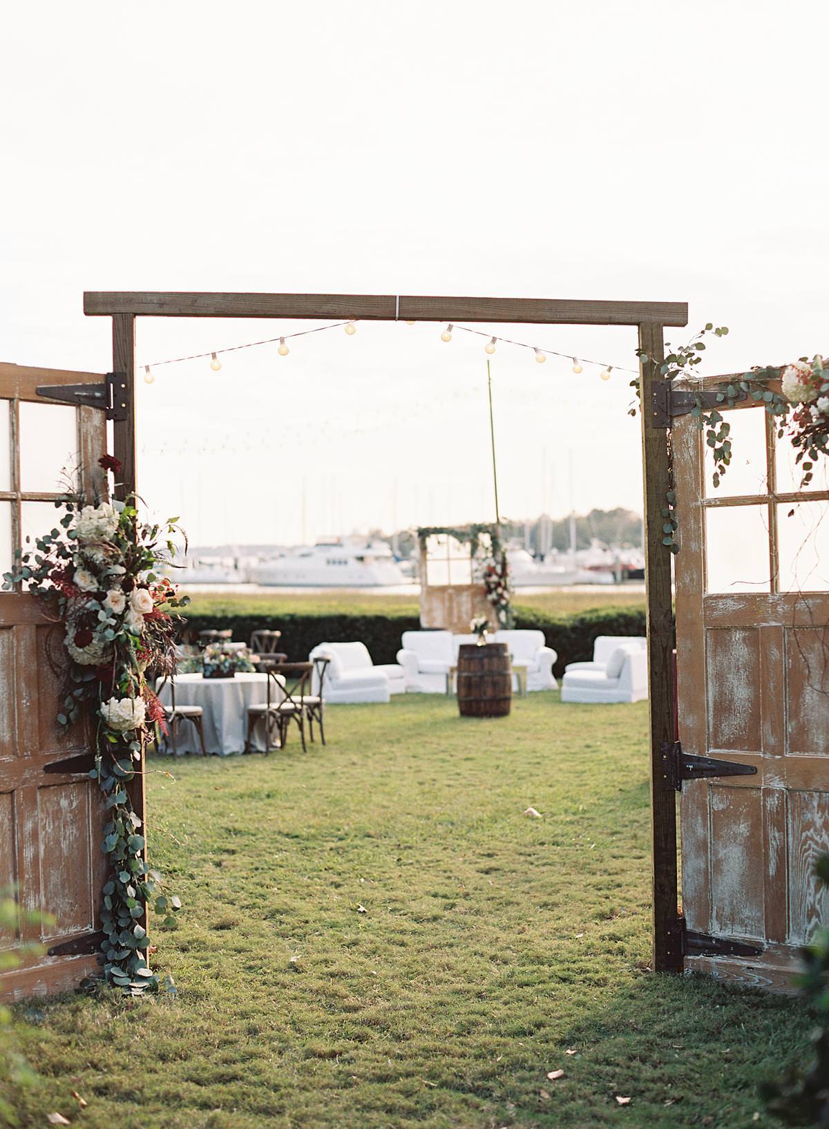 outdoor reception entry doors