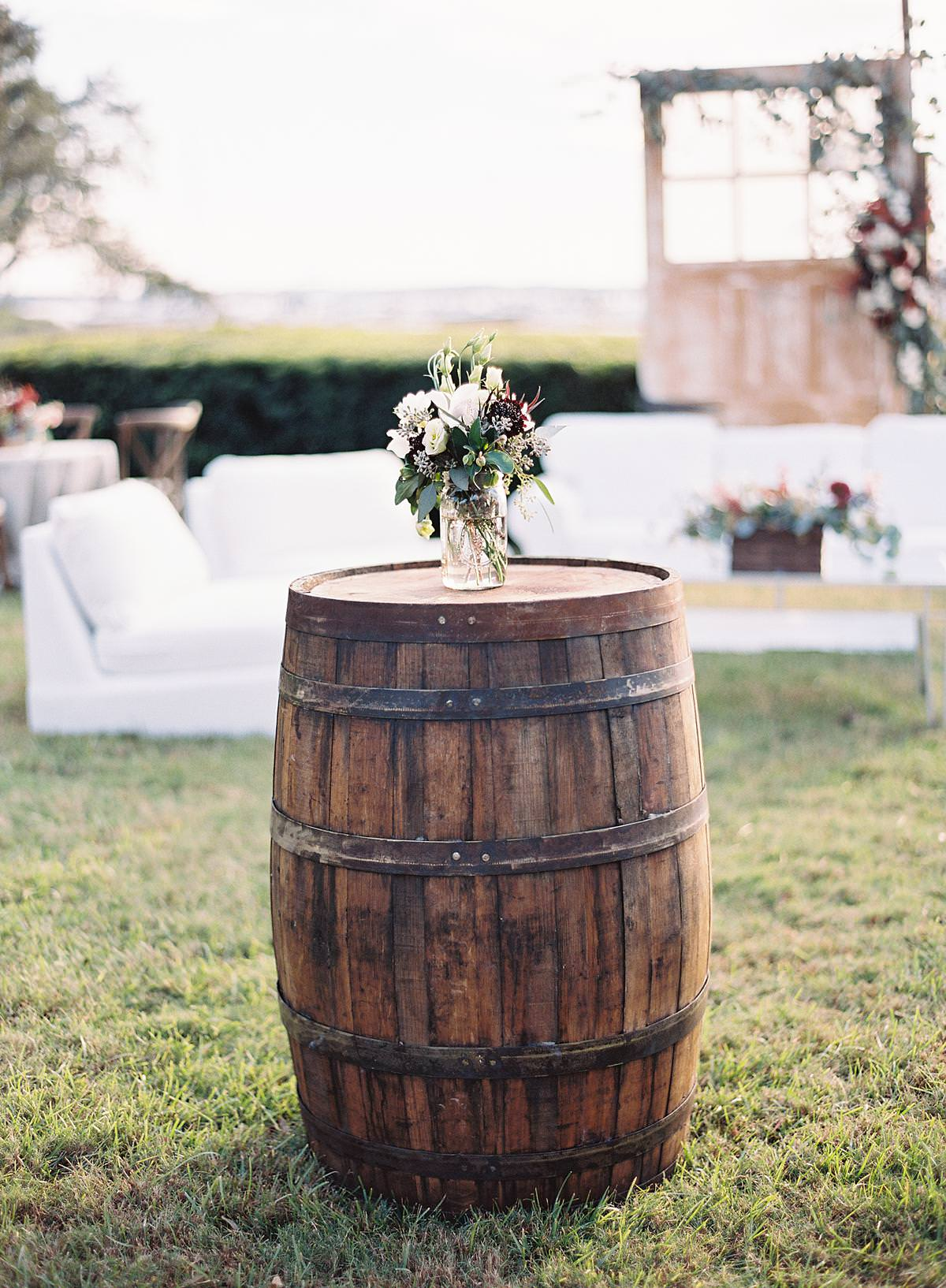 whiskey barrel tabletop