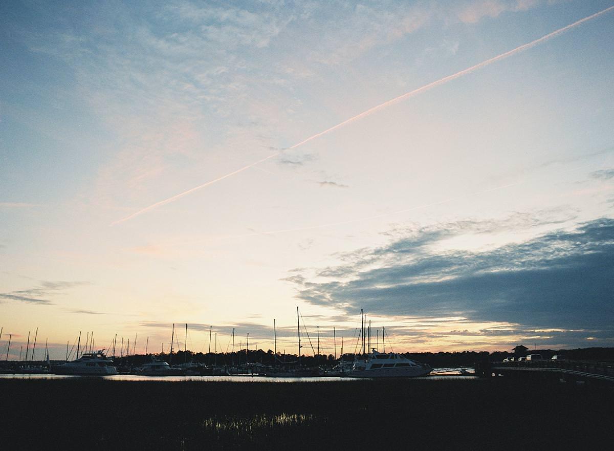 hilton head harbor sunset