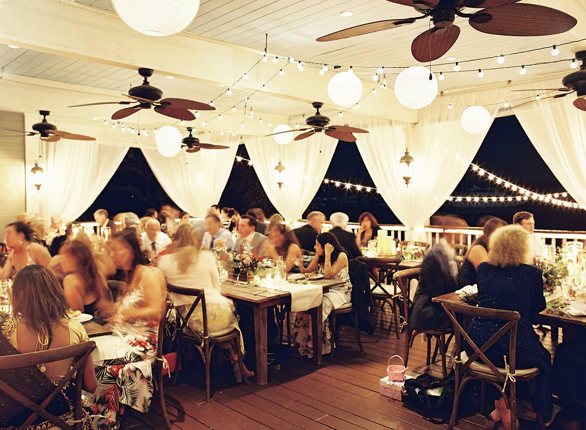 open air evening reception