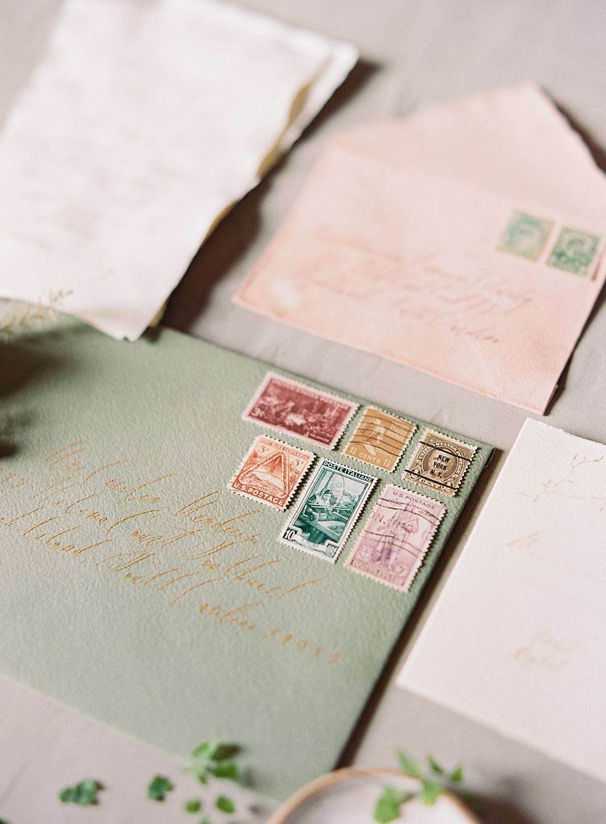 vintage wedding stamps
