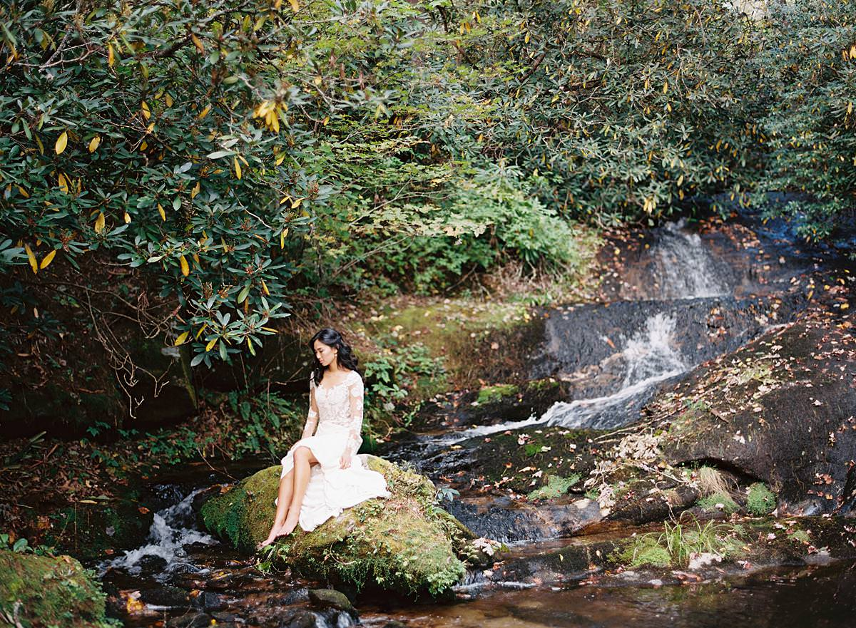 mountain stream wedding