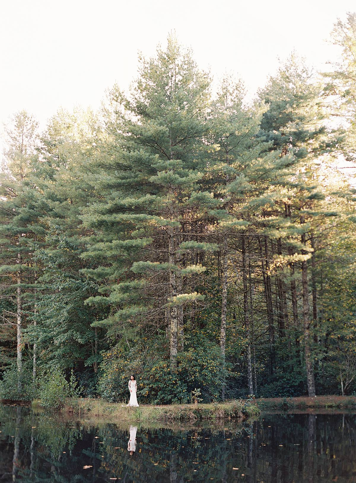 woodland bridal session