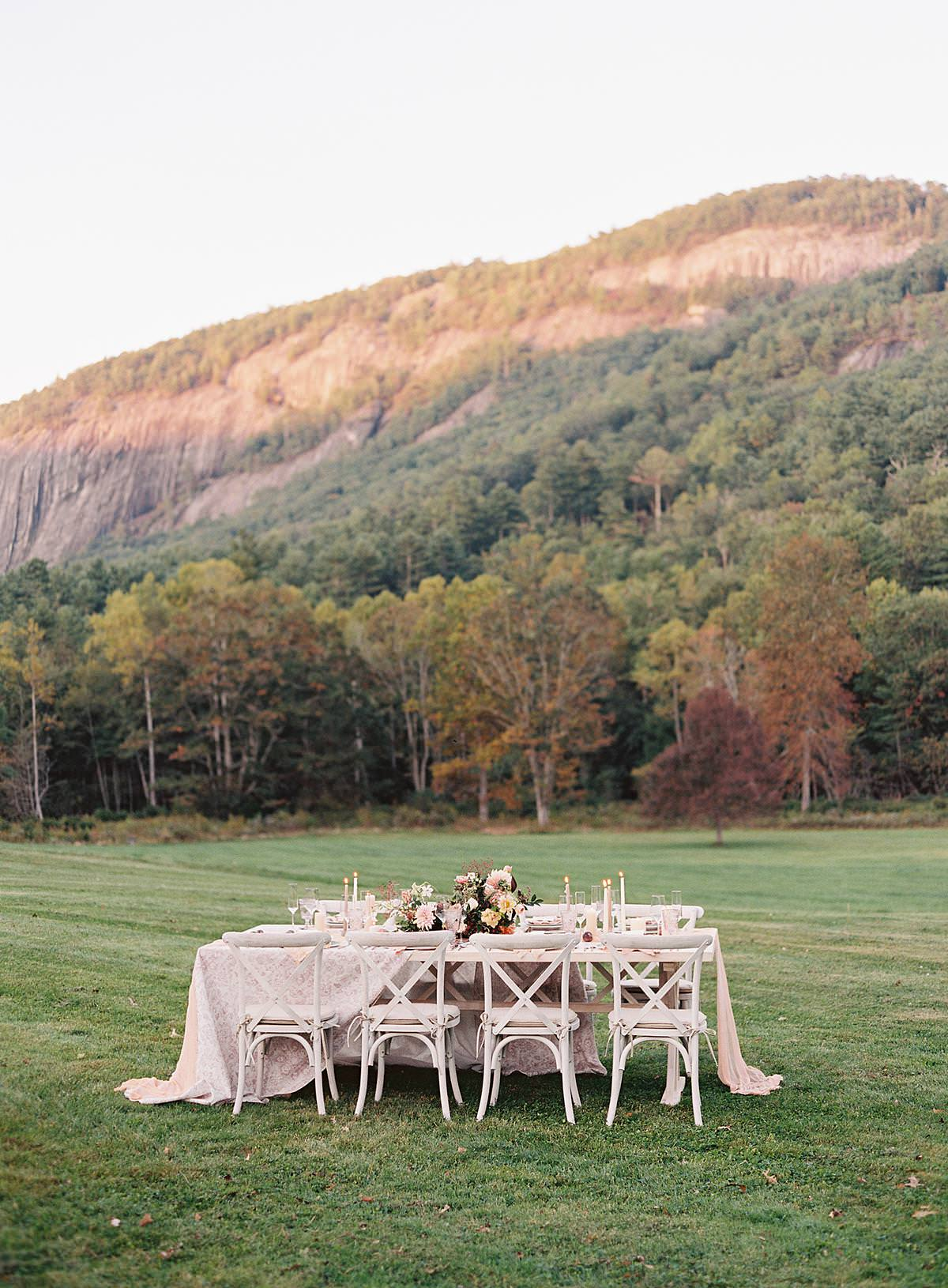 intimate mountain wedding