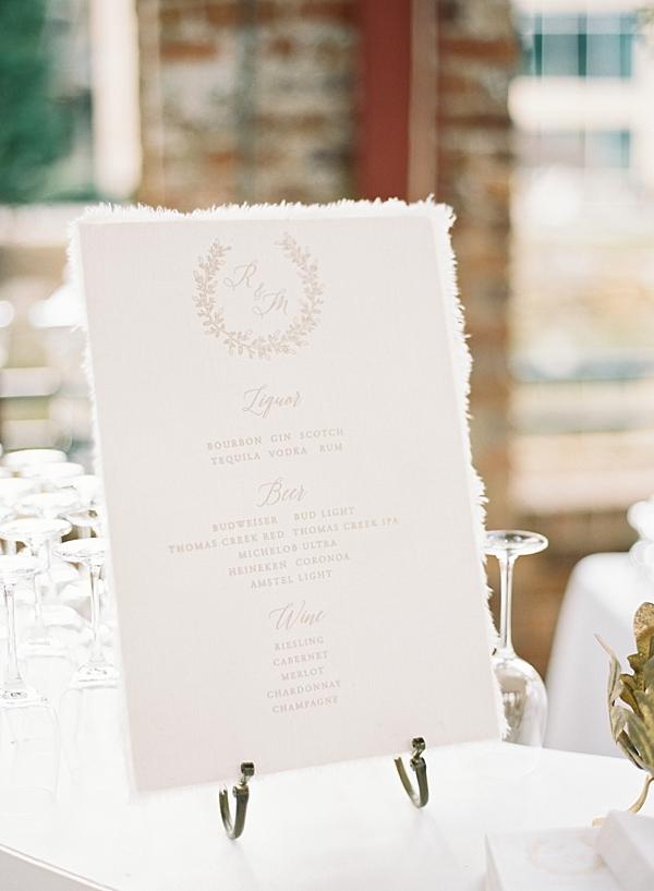 reception-bar-menu
