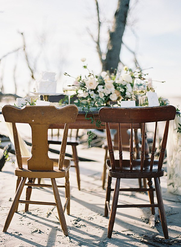 mismatched reception chairs