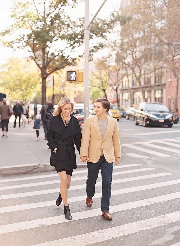 couple walking in west village