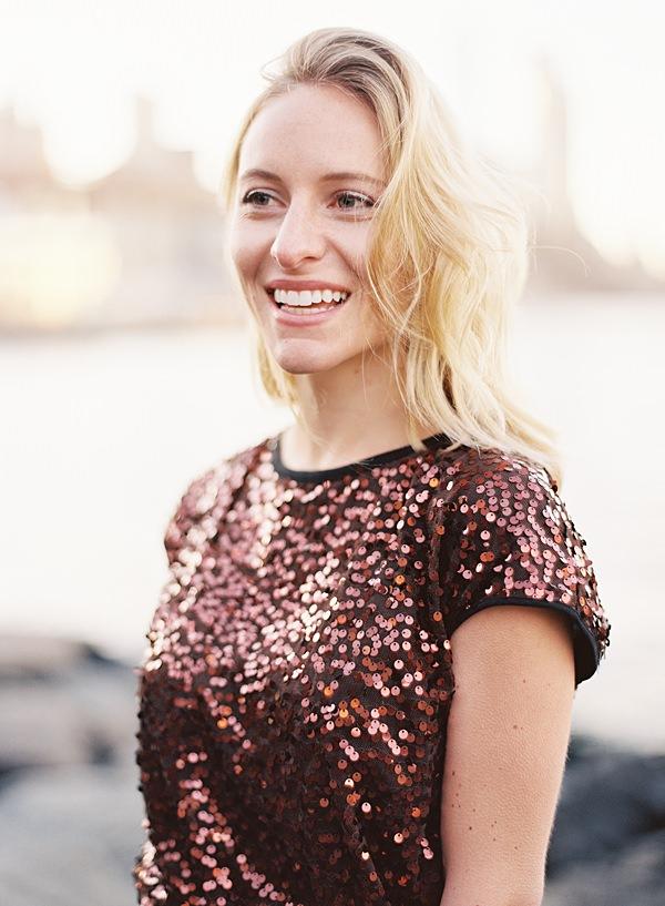 joyful blonde portrait