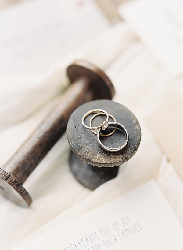 wedding rings on film
