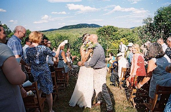 wedding ceremony confetti exit