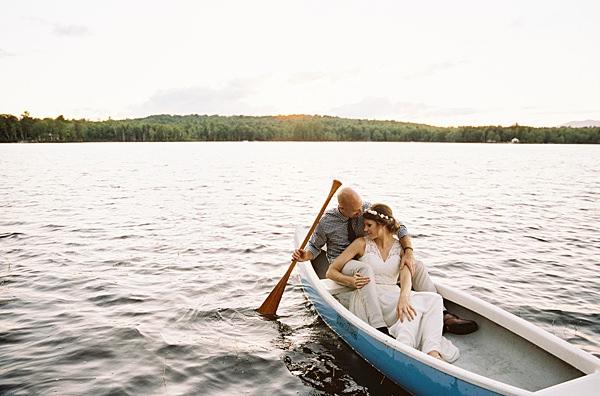 sunset portraits in canoe