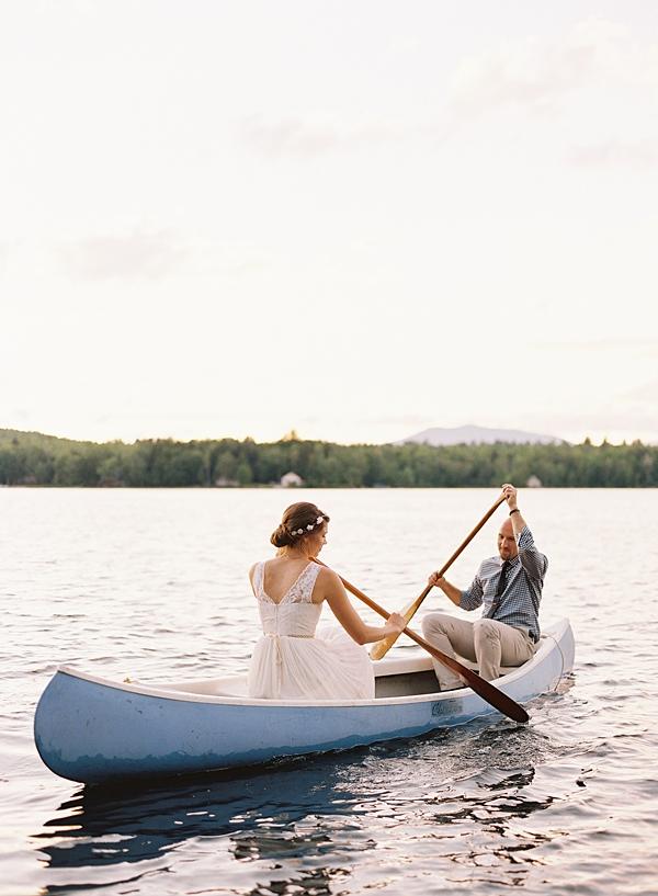 wedding day canoe ride
