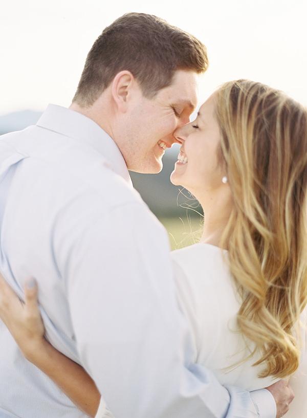 joyful engaged couple