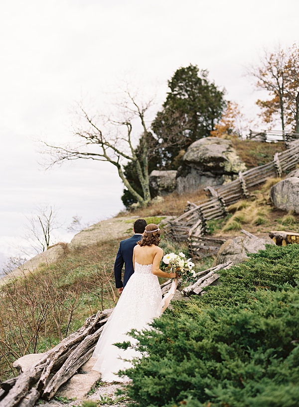 Rainy Fall Cliffs Wedding