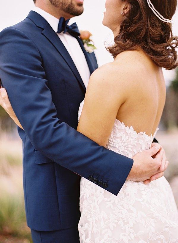 wedding day hug