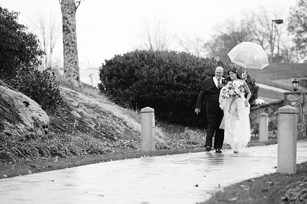 rainy ceremony entrance