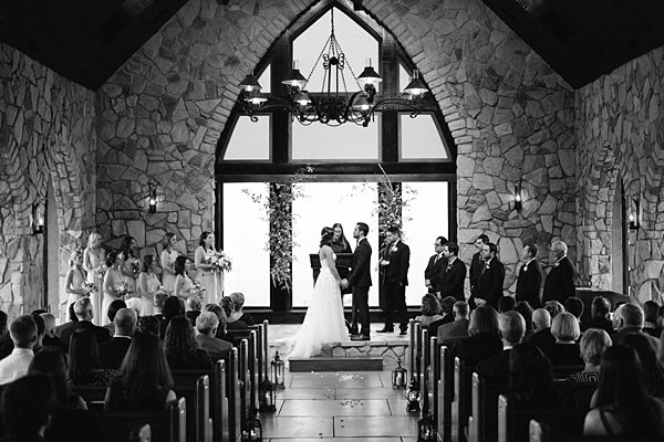 glassy chapel wedding ceremony