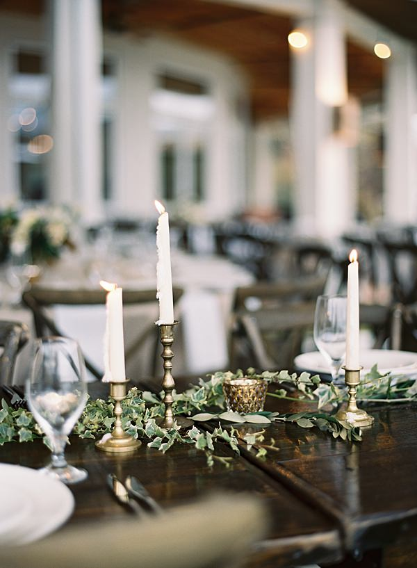 reception table greenery