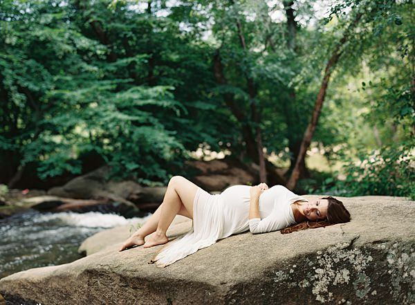 fine art film maternity session