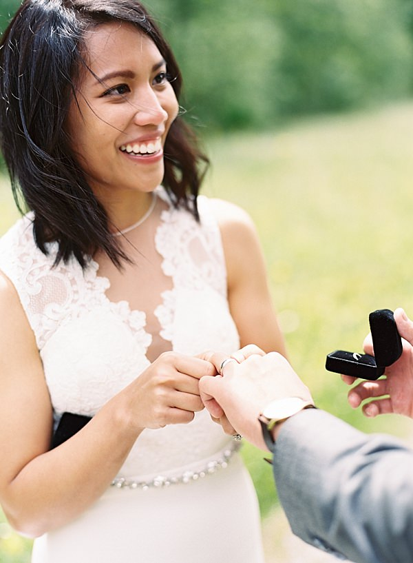 switzerland elopement ring exchange