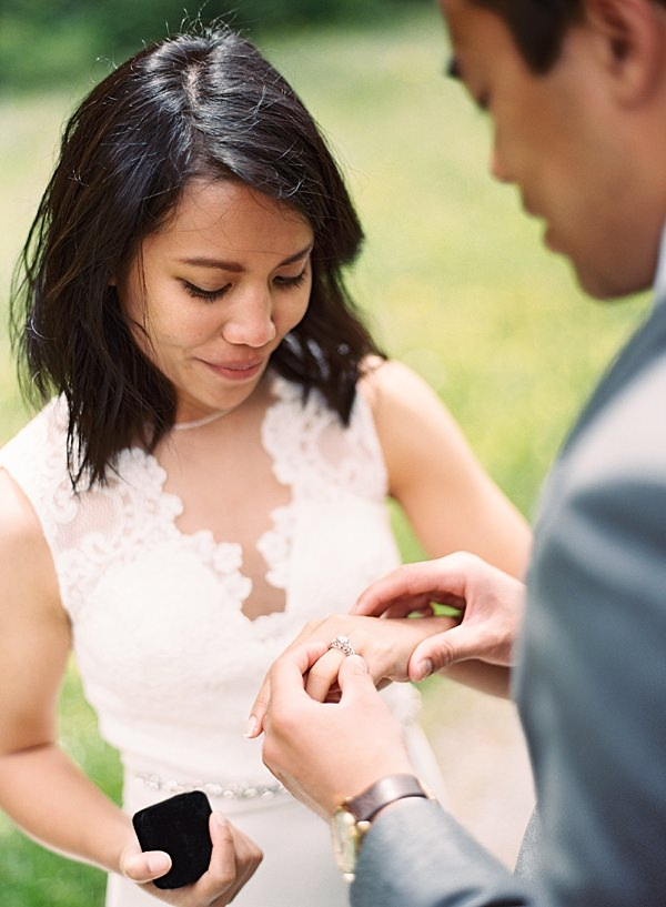 elopement ring exchange