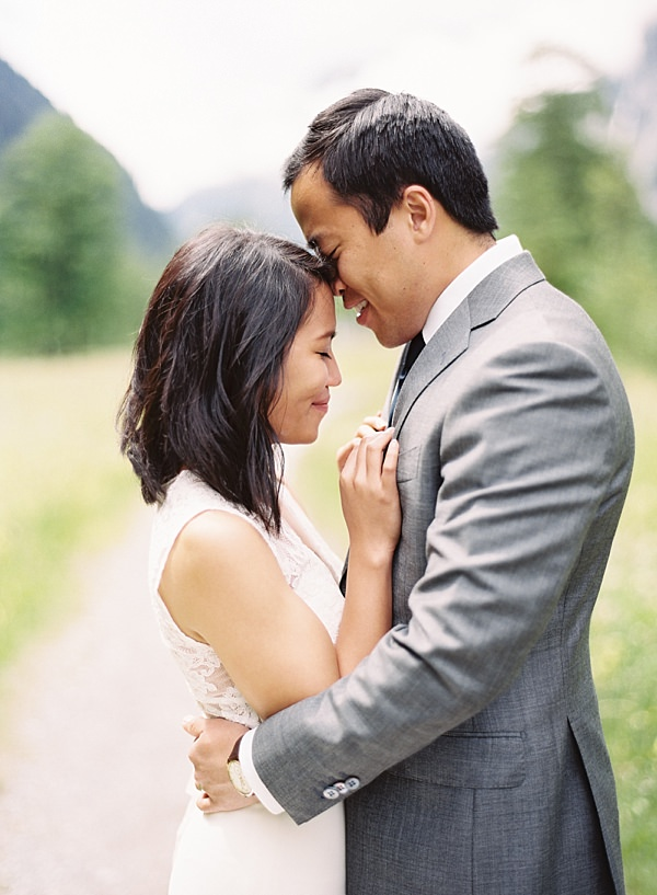 intimate wedding embrace