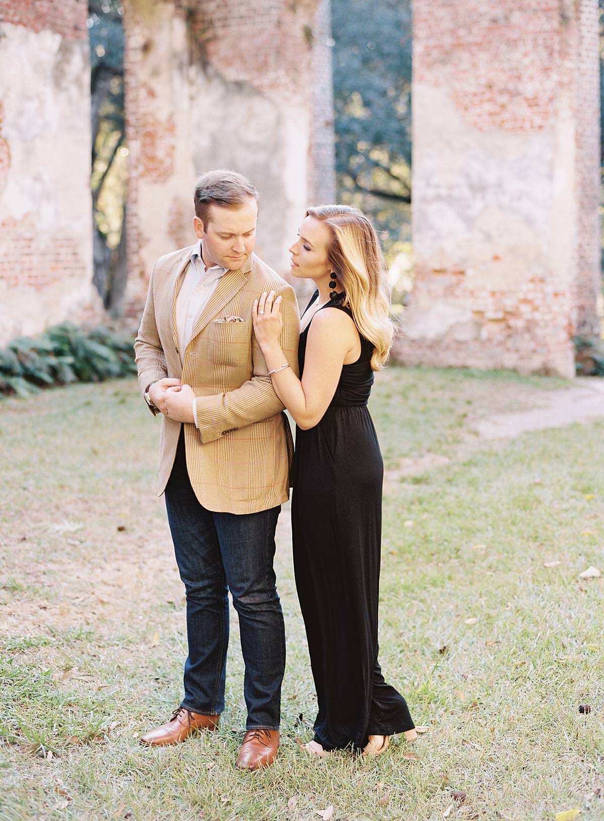 classy engagement session