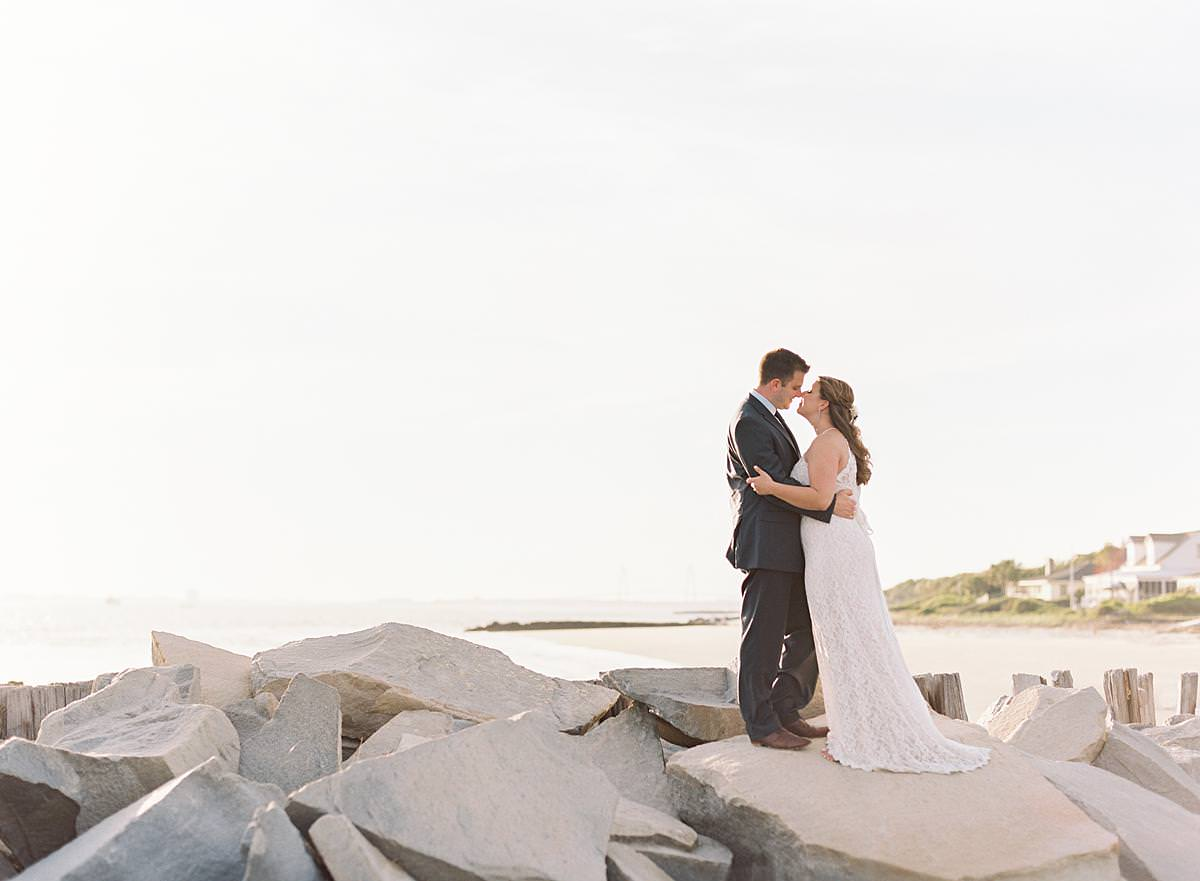 charleston sunset wedding portraits