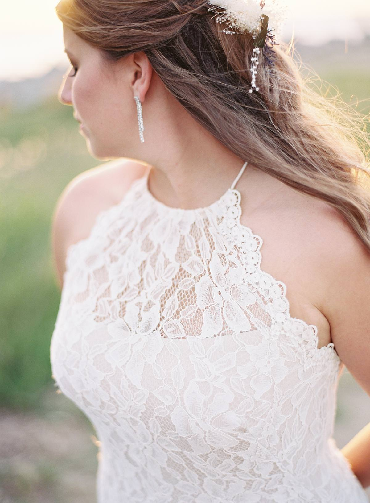 lace halter top wedding dress
