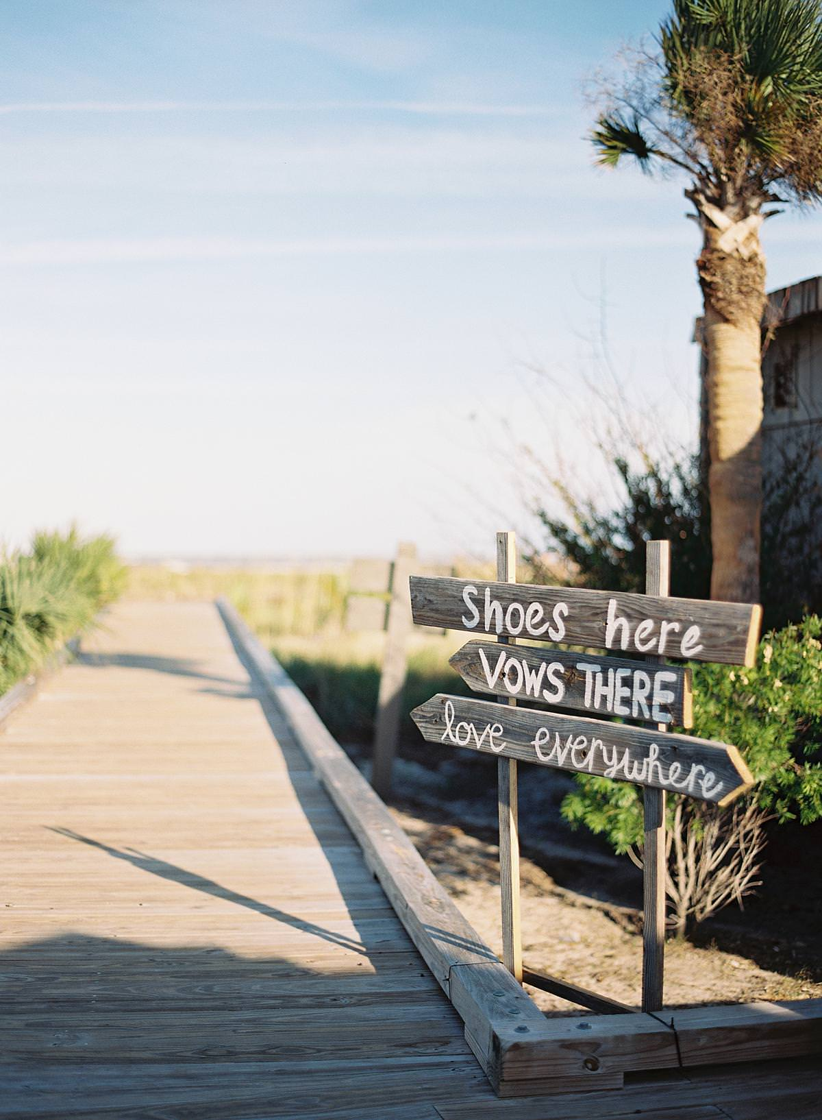 rustic beach wedding signage